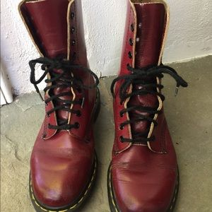 Dr. Martens red boots women's size 8